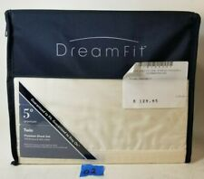 NEW DreamFit 5 Deg. 70% Bamboo 30% Cotton  Premium Twin Sheet Set Eggshell   #02