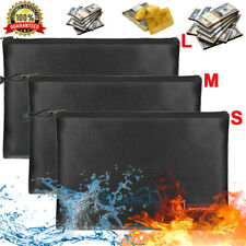 Fireproof Document Bag Waterproof Money Bag Fire Safe Cash Pouch Envelope Holder