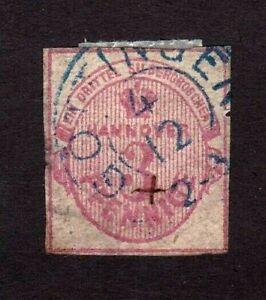 Hanover stamp #7, used, German State, imperf, SCV $300.00
