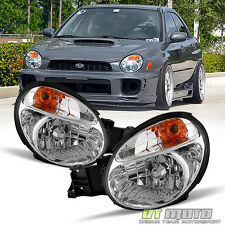 2002 2003 Subaru Impreza WRX Outback Headlights Lamps Aftermarket Set Left+Right