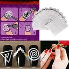 12 sheet Nail Art Guide Stencils Stickers Manicure Tips French Manicure Template
