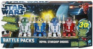 STAR WARS Battle Packs - Royal Starship Droids 4 Pack - NEW MINT & BOXED