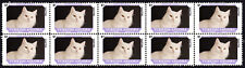 Turkish Angora Friends Cat Breeds Strip Of 10 Mint Stamps #2