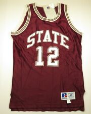 NOS NWT Russell Athletic Maroon STATE #12 Basketball Jersey Adult Men's Size 46