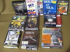 Lot 10 Vintage War, Battle Games on CD Rom w/ Boxes, Manuals (2)