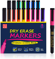 Dry Erase Markers 16 Pack Magnetic Low Odor Whiteboard Markers With Eraser