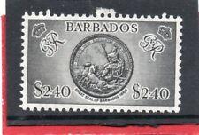 Barbados GV1 1950 $2.40 black, sg 282 VLH.Mint