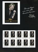 TIMBRE FRANCE NEUF 2009 FEUILLE collector JOHNNY HALLYDAY tour 66 pour les fans