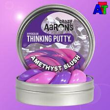 "Crazy Aaron's Thinking Putty AMETHYST BLUSH HYPERCOLOR - Mini Tin 2"" Pink Purple"