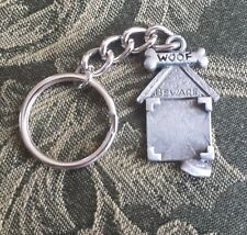 Mans Best Friend HOME PET ANIMAL 1 DOG HOUSE PICTURE FRAME PEWTER KEYCHAIN New