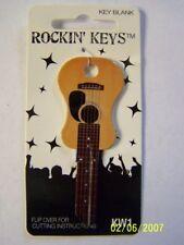 Acoustic  Guitar  shape Kwikset KW1/KW10 house key blank.