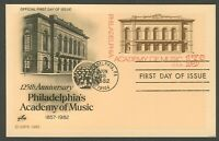 #UX96 13c Philadelphia Academy of Music, Art Craft FDC **ANY 4=FREE SHIPPING**
