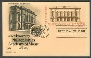 #UX96 13c Philadelphia Academy of Music, Art Craft FDC ANY 4=