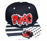 SWAG Basecap Baseball SNAP BACK Schwarz Weiß Rot Sterne LOGO Fittet Kappe Cap