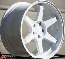 VARRSTOEN ES2 18X9.5 5X100 +34MM WHITE RIMS AGGRESSIVE FITS WRX 2001-2013