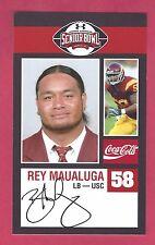 REY MAUALUGA 2009 SENIOR BOWL USC TROJANS ROOKIE CARD CINCINNATI BENGALS RC
