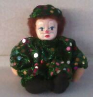 Vintage Collectible Clown Doll With Green Outfit 1990's