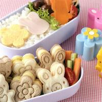 3Pcs Sandwich Cookie Cutters Mini Rabbit Shaped Set for Kids Bento Cutter Shan