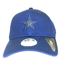 Dallas Cowboys 9Twenty New Era Blue Football Hat Women's Adjustable Glitter Cap