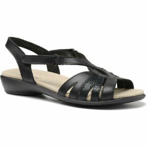 Hotter Women's Flare Open Sandal Leather Touch Fastening Adult Sandals Workwear