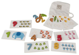 NEW PlanToys educational Numbers 1-10 teaching and matching cards