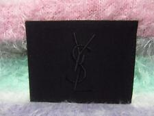 Yves Saint Laurent Handbag Mirror Black Cotton Casing w/Gold-tone Zippers NEW