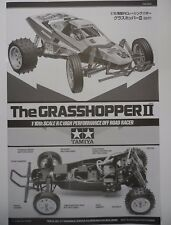 "New Tamiya 2017 ""Grasshopper II/2"" 58643 Instructions / Build Manual 11053818"