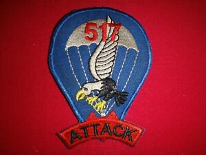 US Army 517th PARACHUTE INFANTRY Regiment ATTACK Patch