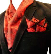 Echarpe + carre de poche homme 100% soie cachemire rouge bordeaux Made in  France d7121d823da