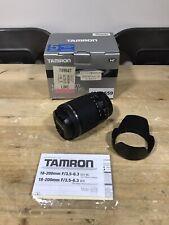 Tamron 18-200mm f/3.5-6.3 Di-II VC For Canon Model B018E