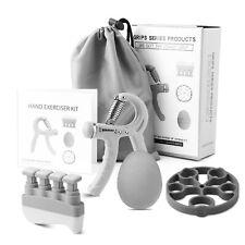 Hand Grip Strengthener Gripper Forearm Exerciser Finger Stretcher Ball 4 Pcs Kit