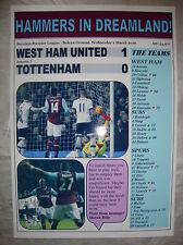 West Ham United 1 Tottenham Hotspur 0 - 2016 - souvenir print