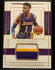 D'Angelo Russell 2016-17 NATIONAL TREASURES CENTURY GOLD GU 3CLR PATCH SP 08/10!