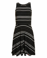 New Womens Superdry Factory Second Racer Fit & Flare Dress Triple Mono Stripe