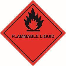 Health and Safety Hazard Sticker Flammable Liquid Sticker Red
