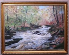 Oil Painting on Canvas - River Landscape  - E H Law