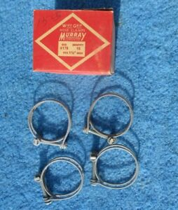 "Vintage Wire Band Screw 1 1/2 "" Hose Clamps 4 NOS Original Murray Made in USA"