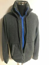 ABERCROMBIE & FITCH MENS MOUNTAIN FLEECE JACKET GREY BLUE SIZE Large A&F