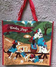 TJ Maxx Under Dogs Baseball Hounds Reusable Shopping Bag Tote Eco-Friendly Green