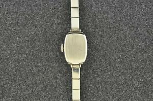 BEAUTIFUL VINTAGE LADIES MOVADO 14K SOLID WHITE GOLD AND DIAMOND WRISTWATCH