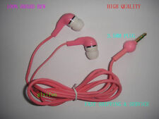 SONY PINK earphones headphones For apple iphone 4 4s 3g ipod nano PC MP3 MP4 PDA