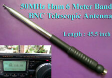 "Ham Amateur Radio 6 Meter Band 50MHz 45.5"" BNC Telescopic Antenna"