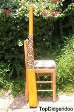 "Termite Hollowed Teak 51"" (130cm) Aboriginal DIDGERIDOO+Bag+Beeswax+Free Shippng"