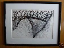 1985 pen ink drawing Glass Slipper Listed Artist Robert Singletary Modern Art #
