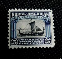 US Stamps #621 VF Mint Never Hinged MNH 1925 Issue Norse American