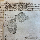 LOT OF TWO OLD PAPERS 1700s