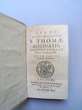 Summa totius theologiae S. Thomae Aquinatis. Vol. I e II -1701