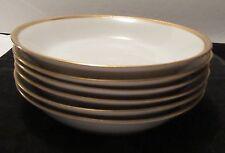 Six W. Guerin Limoges Soup Bowls, Encrusted Border, Circa 1900-1932, Excellent