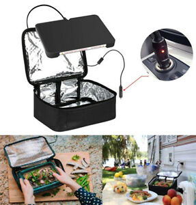 Portable Food Warmers Electric Heater Lunch Box Mini Oven 12V Car 110V Office