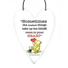 Disney Winnie the Pooh cute heart quote on metal wall art sign wall hanging gift